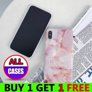 Accessories - NEW iPhone Max/XS/X/7/8/Plus Pink Marble Case